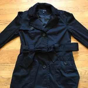 Willi Smith Cotton Belted Pea Coat - M